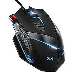 Gaming Maus mit speziellem Feuerknopf, VicTsing USB Wired Optische Gaming Mäuse PC Mouse (6 Einstellbare DPI Auflösungen, 7200 DPI, 7 Licht-Modi) für Pro Gamer Spieler usw