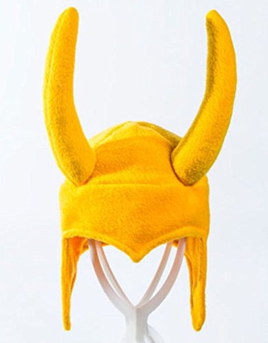 [Polar Fleece Loki Helmet Costume Hat] (Loki Costume)