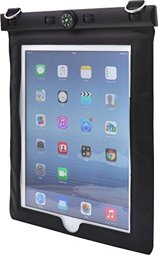PLATA 各種 iPad 用 iPad/ iPad2 /iPad( 第3世代 )/ iPad ( 第4世代 )/ iPadAir 防水 ケース ( コンパス 付き)  ブラック