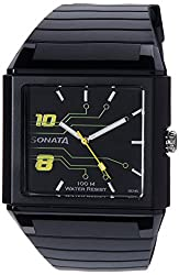 Sonata Ocean Analog Black Dial Mens Watch - NF7988PP01J