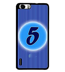 Fuson 2D Printed Numerology Designer back case cover for Huawei Honor 6 Plus - D4222