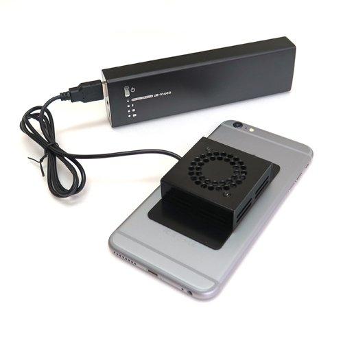 iPhone スマホ用 ポータブル 冷却ファン クーラー ポケモンGOに最適 USB駆動 スマートフォン専用 POKEFAN40GO