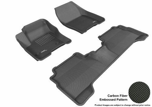3D Maxpider Complete Set Custom Fit All-Weather Floor Mat For Select Ford Escape Models - Kagu Rubber (Black)