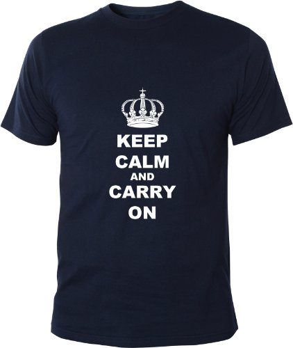 Mister-Merchandise-T-Shirt-Keep-Calm-and-Carry-on-Camiseta-para-Hombre-S-XXL-Muchos-Colores