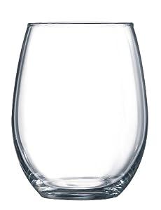 Arc International Luminarc Cachet/Perfection Stemless Wine Glass, 15-Ounce, Set of 6