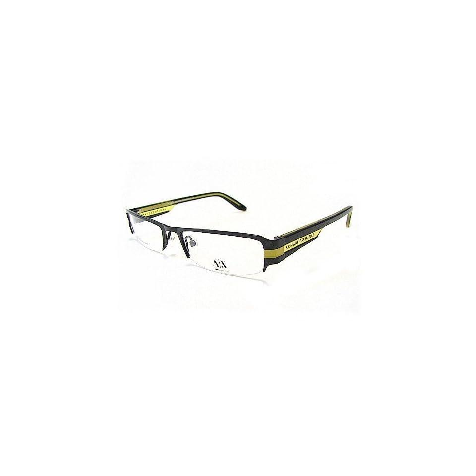 58dce8b09c8b ARMANI EXCHANGE AX 138 Eyeglasses Shiny Black Lime 0N7H Optical Frame