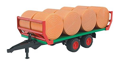 Bruder-02220-Ballentransportanhnger-mit-8-Rundballen
