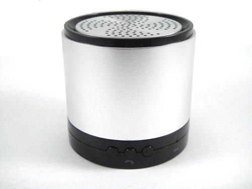 Gpk Systems Bluetooth Wireless Metal Mini Beatbox Handfree Mic Stereo Portable Speakers Silver