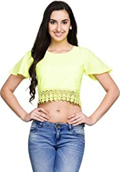 Addyvero Women's Chartreuse Yellow Crop top
