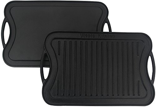 Utopia Kitchen Reversible Cast Iron Grill Griddle, 17 x 10 inch (Kitchen Cast Iron Pans compare prices)