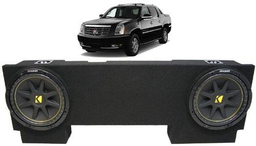 "Asc Package Cadillac Escalade Ext 02-13 Dual 10"" Kicker C10 Subwoofer Under Seat Sub Box Enclosure 600 Watts Peak"