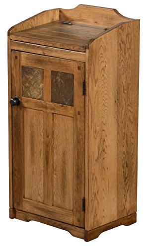 Sunny Designs 2110RO Sedona Trash Box, Rustic Oak Finish (Kitchen Wood Trash Bin compare prices)