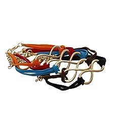 Aaishwarya Funky Colourful Infinity Wrap Bracelet (Pack of 5)