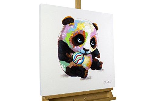 kunstloft acryl gem lde 39 spielender panda 39 60x60cm. Black Bedroom Furniture Sets. Home Design Ideas