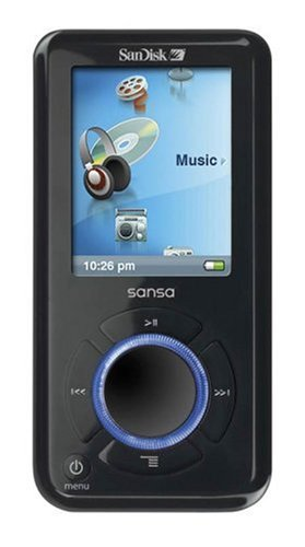 Sandisk Sansa e 250 Tragbarer MP3-Player mit Radio 2 GB schwarz