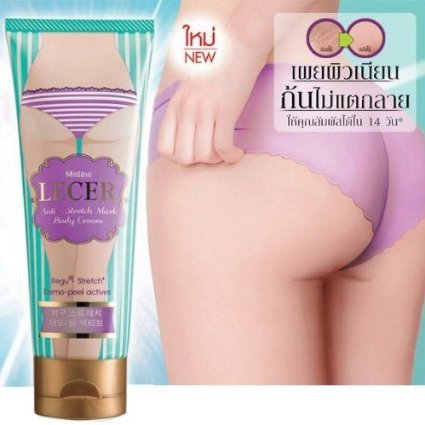 """Thai Happy"" Mistine Lecer Cream Bikini Armpit Elbow Anti Stretch Mark Body Active Whitening 100 G."