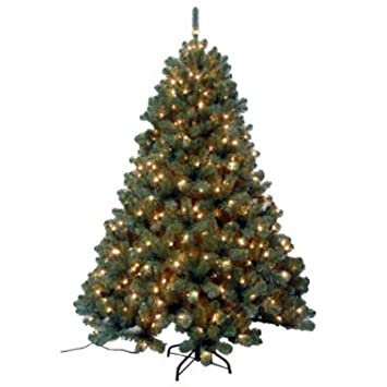 #!Cheap Trim a Home Artificial Pre Lit Christmas Tree 6.5' Morgan Pine 600 Clear Lights & Stand