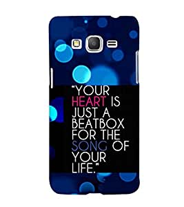 Fuson 3D Printed Quotes Designer back case cover for Samsung Galaxy Grand Prime G530H - D4567