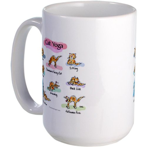 Cafepress Cat Yoga Poses Large Mug Large Mug - Standard