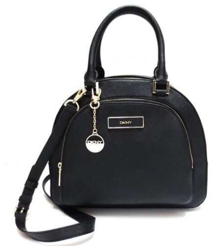 DKNYDKNY (Donna Karan New York) Saffiano Leather Satchel Handbag in Black (DKNY Satchels, Handbags)