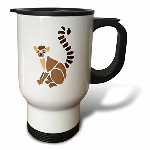 All Smiles Art Animals - Funny Artistic Lemur Abstract Art Original - 14oz Stainless Steel Travel Mug (tm_244590_1)