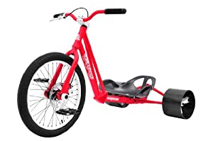 Bike Rassine Syndicate Drift Trike, Red Frame with White Trim