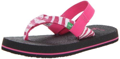 Sanuk Kids Yoga Wildlife Td Dress Sandal (Toddler/Little Kid),Fuchsia Zebra,X-Small/8-9 M Us Toddler front-141771