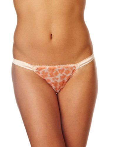 Mimi Holliday Meringue Thong Low Rise Women's Thong Peach/Coral Small