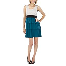 Product Image Mossimo® Black: Women's 3 Tier Stappy Dress - Grey/Teal