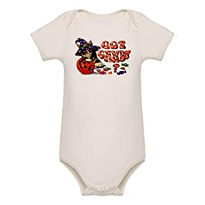 Artsmith, Inc. Organic Baby Bodysuit Halloween Got Candy Kitten Cat Pumpkin