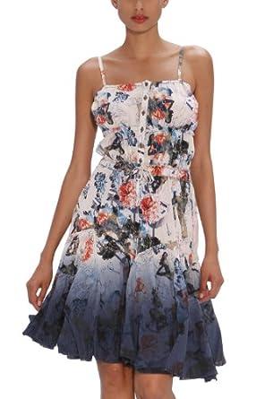 desigual robe femme blanc 1008 crudo beige 46. Black Bedroom Furniture Sets. Home Design Ideas