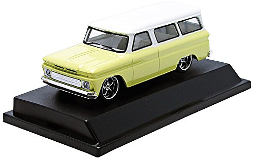 GreenLight Collectibles 1966 Chevy Suburban Yellow with White Roof Vehicle (1:43 Scale)