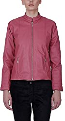 Baba Rancho Women's Regular Fit Jacket (Lj 00215_S, Pink, S)