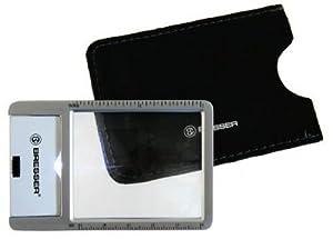 BRESSER lente di ingrandimento, lente di Fresnel 5,3x4,4cm (LED)