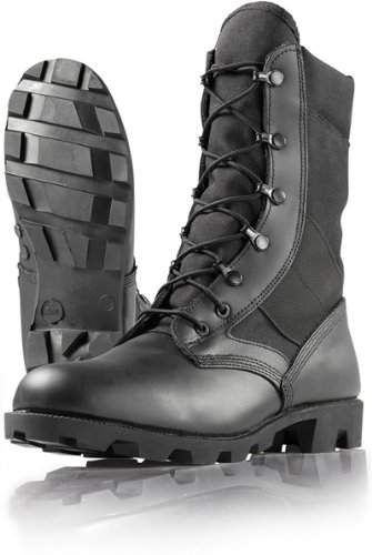 Wellco Men's B130 Imported HW Jungle Combat Boot,Black,10.5 M