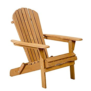 Outdoor Wood Adirondack Chair Garden Furniture Lawn Patio Deck Seat 2000