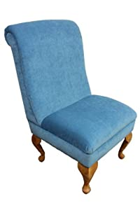 Beautiful Bedroom Chair in a Pimlico Azure Blue Fabric