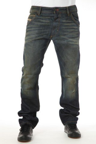 Brand New Diesel Krooley 8Y3 Mens Jeans, 08Y3 Dirty New Age Collection, Regular Slim Carrot Fit (34 x 34)