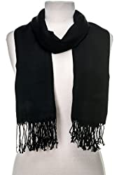 Gift Packaged Noble Mount Solid Plain Pashmina Scarf with a Complimentary Gift