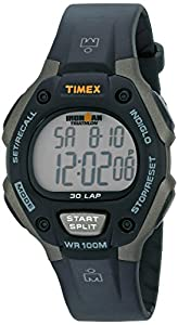 """Timex Men's T5E901 """"Ironman"""" Watch with Black Resin Band"""