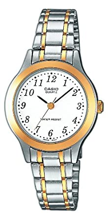 Casio - LTP-1263PG-7BEF - Collection - Montre Femme - Quartz Analogique -  Cadran Blanc - Bracelet Acier Argent       18e328abd4b3