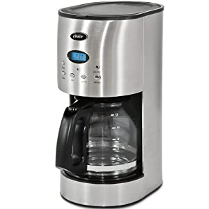 Oster RDXSS43 12-Cup Programmable Coffeemaker, Stainless Steel