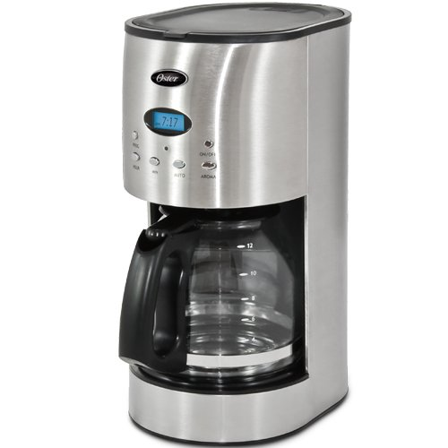 Oster Coffee Maker Set Time : Oster RDXSS43 12-Cup Programmable Coffeemaker, Stainless Steel www.cafibo.com