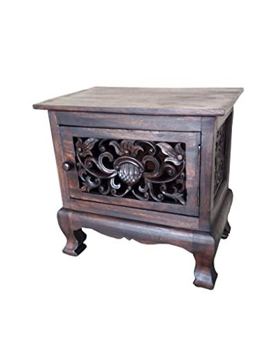 Asian Art Imports Carved Flower Cabinet