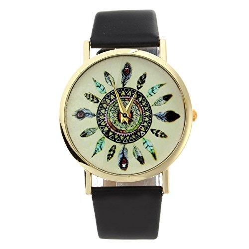 yesurprise-reloj-casual-de-mujer-plumas-de-pavo-real-estilo-bohemio-color-negro