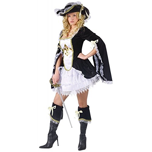 [Midnight Musketeer Costume - Medium/Large - Dress Size 10-14] (Adult Musketeer Costumes)