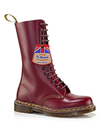Dr Martens Vintage 1914 Boot MADE IN ENGLAND 14 Hole Ox Blood Quilon Leather 6