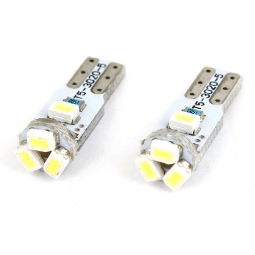 Cutequeen 20Pcs Led Car Lights Bulb Green T5 3528 5-Smd 3Smd 17 18 27 37 58 70 73 74 79 85 86 2721 (Pack Of 20)