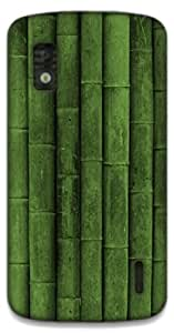 The Racoon Grip Green Bamboo hard plastic printed back case / cover for LG Nexus 4