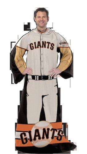 Mlb San Francisco Giants Uniform Huddler Blanket With Sleeves front-489002
